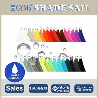 AU85 • Buy Water Proof Rectangle Triangle Square Patio SHADE SAIL Canopy Cloth 10+Color