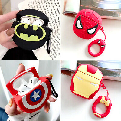 AU11.99 • Buy For Apple AirPods Case Super Heros Silicone Cover Skin Earphone Charger Cases OZ