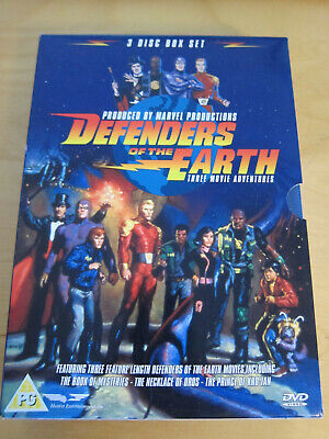 Defenders Of The Earth Movie (DVD, 2005, 3-Disc Set, Animated, Box Set) • 8£