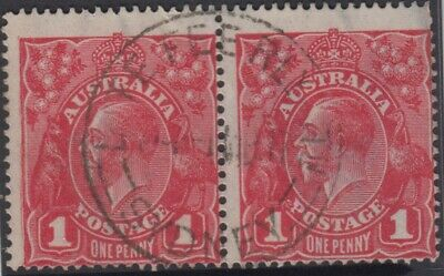 AU12 • Buy Stamps Australia 1d Red KGV With 1917 Late Fee Railway Station Sydney Postmark