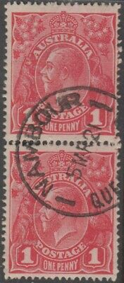 AU12 • Buy Stamps Australia 1d Red KGV Vertical Pair With 1921 Nambour Queensland Postmark