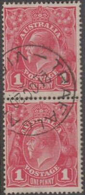 AU15 • Buy Stamps Australia 1d Red KGV Vertical Pair With 1920 Trafalgar Victoria Postmark