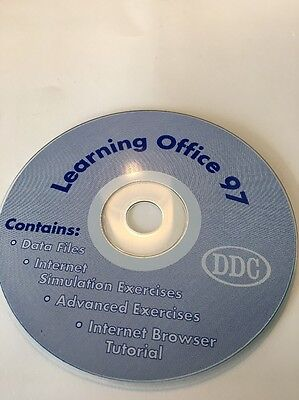 Learning Office 97Multimedia Computer Based Training On CD ROM-VERY RARE VINTAGE • 22.32£