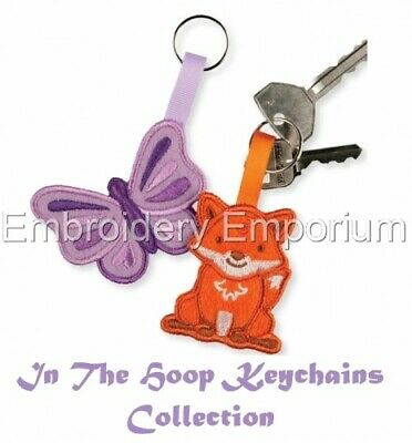In The Hoop Keychains Collection - Machine Embroidery Designs On Cd Or Usb • 9.95£