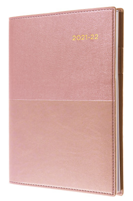 AU21.90 • Buy Collins Vanessa 2021 - 2022 Financial Year Diary A5 Week To View Rose Gold FY385