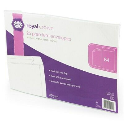 AU34.34 • Buy 200 B4 Envelope 353mm X 250mm Card Mailer 80gsm Business Tough Bag Post Letter