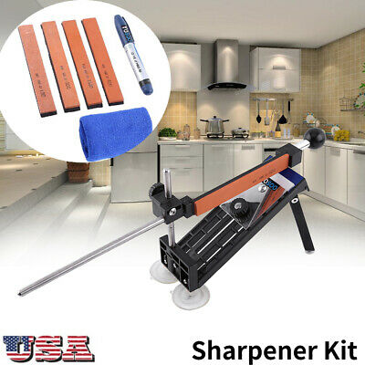 $21.50 • Buy Professional Kitchen Sharpener Kit Sharpening Knife Fix-Angle With 4 Stones US