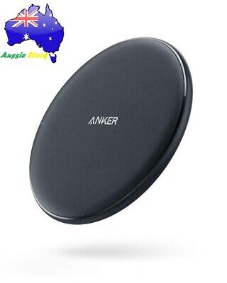 AU148.99 • Buy Anker Wireless Charger 10W Qi-Certified Pad Fast Charge Samsung Apple Compatible