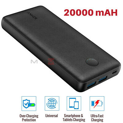 View Details Anker Power Bank 20000mAh PORTABLE PHONE CHARGER 18W 2x USB PowerIQ FAST CHARGE • 22.99£