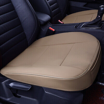 $ CDN24.80 • Buy Universal Car Front Seat Cover Breathable Beige PU Leather Deluxe Seat Cushion
