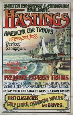£5.13 • Buy Vintage SE Chatham Railway Hastings Railway Poster A4/A3/A2/A1 Print