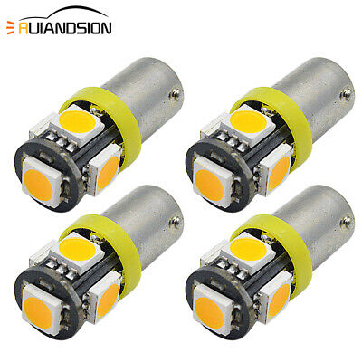 AU8.99 • Buy 4X Yellow H6W BAX9S 433 434 LED 5050 5 SMD Side Parker Light Interior Bulb AC12V