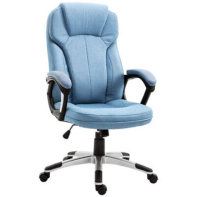£85.99 • Buy Vinsetto Executive Office/ Gaming Chair Adjustable Padded Seat W/ Wheels Blue