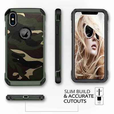 AU8.99 • Buy For IPhone XS Max XR 8 Plus 7 6 Shockproof Tough Bumper Camo Military Case Cover