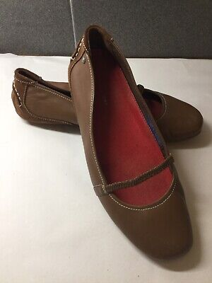 Rockport Flat Ballet Pumps, Tan Leather. Size 5UK. Ex Condition • 20£