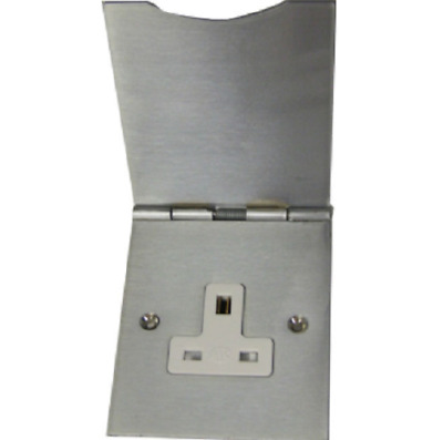 MK Albany Plus 741BRC Floor Switch Socket Outlet 13A 1 Gang Brushed Chrome • 25.99£