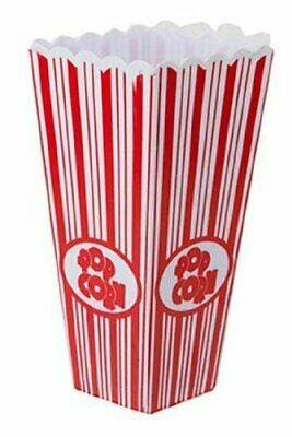 Plastic Popcorn Box 20cms Tall - Pack Of 4 • 6.49£
