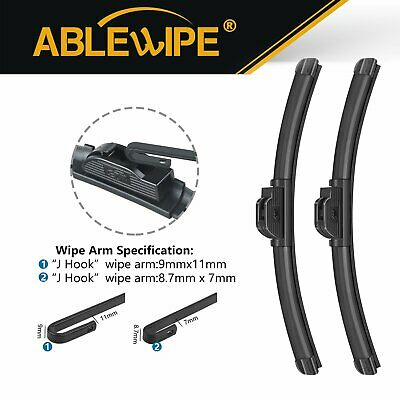 $17.59 • Buy ABLEWIPE 26 &19  Fit For Infiniti M35h M37 M56 2013-2011 Windshield Wiper Blades