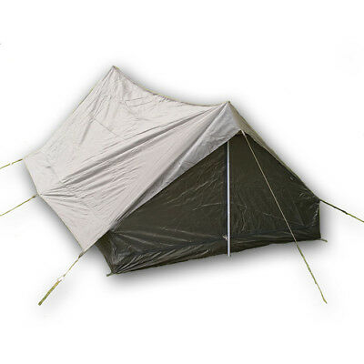 French Army Surplus 2 Person Man Tent Olive Green New Military Waterproof • 34.95£