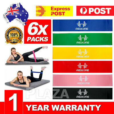 AU13.95 • Buy 6PCS Resistance Bands Power Heavy Strength Exercise Fitness Gym Crossfit Yoga AU