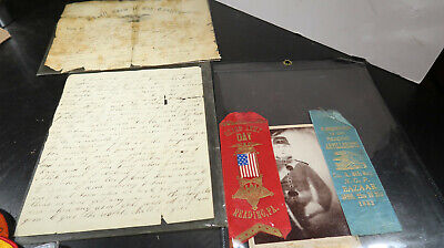 $360.86 • Buy Civil War Letter Ribbon Photo And Discharge Paper Grouping POW Wounded