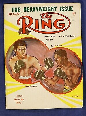 $11 • Buy The Ring July 1954 Boxing Magazine Heavyweight Issue Marciano Charles