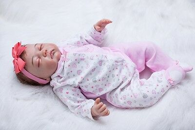 $ CDN145.18 • Buy Silicone Vinyl Reborn Newborn Dolls +Clothes 20inch Handmade Lifelike Baby Girl