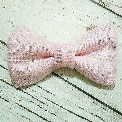 Children's & Baby Boys Handmade Dickie Bow Tie In Laura Ashley Baby Pink • 11.95£
