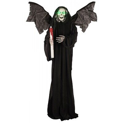 $ CDN114.67 • Buy Grim Reaper Halloween Prop Life Size Angel Of Death Scary Decoration 6 Ft Tall