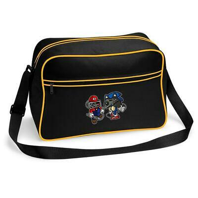 Mario Gaming Hedgehog Joypad Head Messenger Shoulder Bag School College • 15.99£