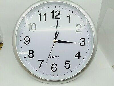 AU16.99 • Buy Wall Clock Silent Non Ticking -Quality Quartz, 14 Inch Round Easy To Read Home/O