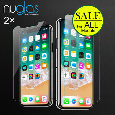 AU6.95 • Buy 2X Tempered Glass Screen Protector For IPhone 11 Pro XS Max XR X 8 7 6S Plus