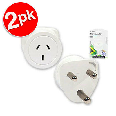 AU17.99 • Buy 2x-Sansai-Travel-Power-Adapter-Outlet-AU-NZ-Socket-to-South-Africa-SA-India-Plug