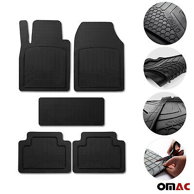 $34.90 • Buy Car Floor Mats For BMW All Weather Semi Custom Black Trimmable Fits 5 Pcs.