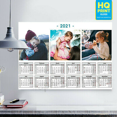2020 Year Calendar Personalized Planner Wall Chart Poster | A4 A3 A2 A1 | • 2.99£