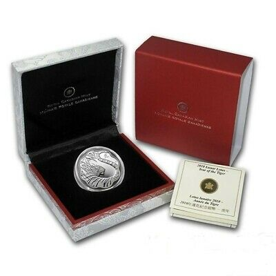 $ CDN89.95 • Buy 2010 Canada $15 Fine Silver Lunar Lotus - Year Of The Tiger