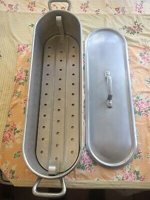 $69 • Buy UNIS MTM Aluminum Fish Poacher Made In France Lifter Lid Vintage Professional