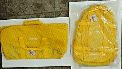 $ CDN965.44 • Buy 2018 SUPREME 3M Box Logo FW18 Yellow BACKPACK & DUFFLE Waterproof BAG Lot! NEW!