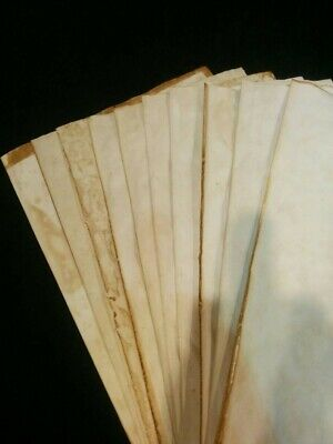 £8.99 • Buy Handmade Aged Paper - A4 Size - 10 Sheets Tea Dyed Stained Paper For Journals