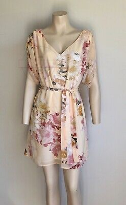 AU39.99 • Buy FOREVER NEW Peach Floral Dress Size 6