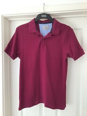 Marks And Spencer Raspberry Polo Shirt Tailored Fit Size S • 2£
