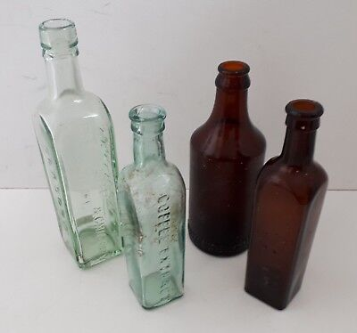 Pattersons/Branson Camp Coffee Glasgow Aerated Water Glass Bottles Vintage X 4  • 7.25£