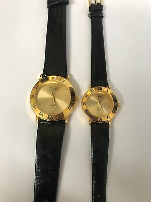 His And Hers Time Quartz Watches • 15.36£