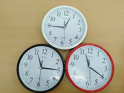 AU16.99 • Buy Wall Clock Silent Non Ticking -Quality Quartz, 10 Inch Round Easy To Read Home/O