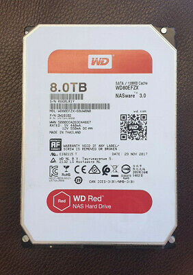 """View Details WD RED NAS 8TB Internal 3.5"""" HDD WD80EFZX • 169.00£"""