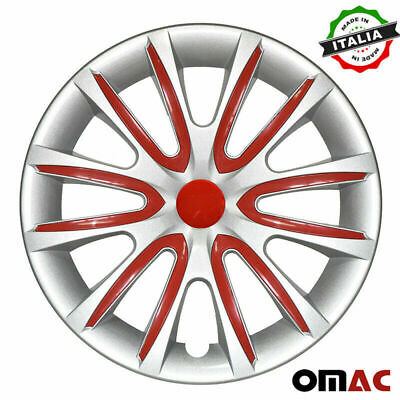 $59.90 • Buy 16  Inch Hubcaps Wheel Rim Cover For Mazda Gray With Red Insert 4pcs Set