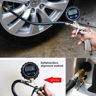 $ CDN35.32 • Buy Tire Inflator With Digital Air Pressure Gauge Offroad Accessories Universal Car