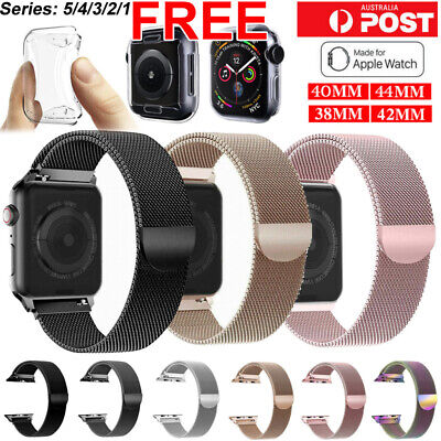 AU9.89 • Buy Band For Apple Watch Series 6 5 4 3 21 Milanese Magnetic Stainless Loop Iwatch