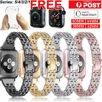 AU13.99 • Buy For Apple Watch IWatch Series 5/4/321 Diamond Stainless Steel Band 38/42/40/44mm