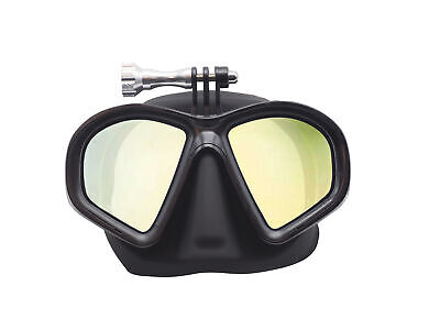 AU85 • Buy DivePRO Dive Mask Shadow With GoPro Mount And Mirror Lenses Freediving Mask